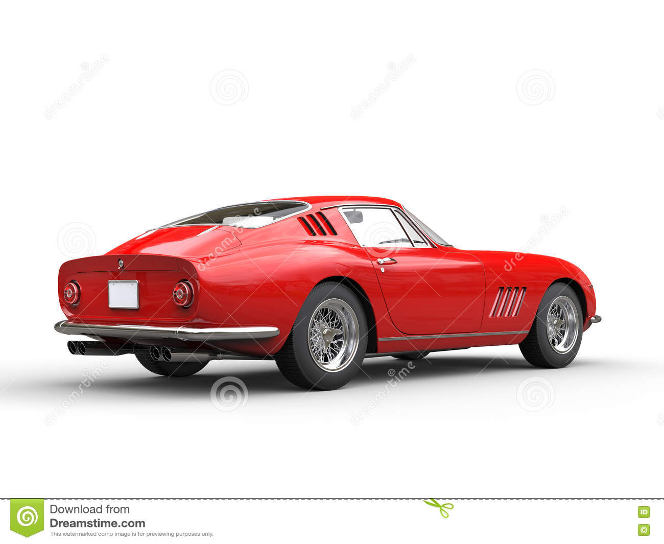 Old School Sports Car - Back View Stock Illustration ...