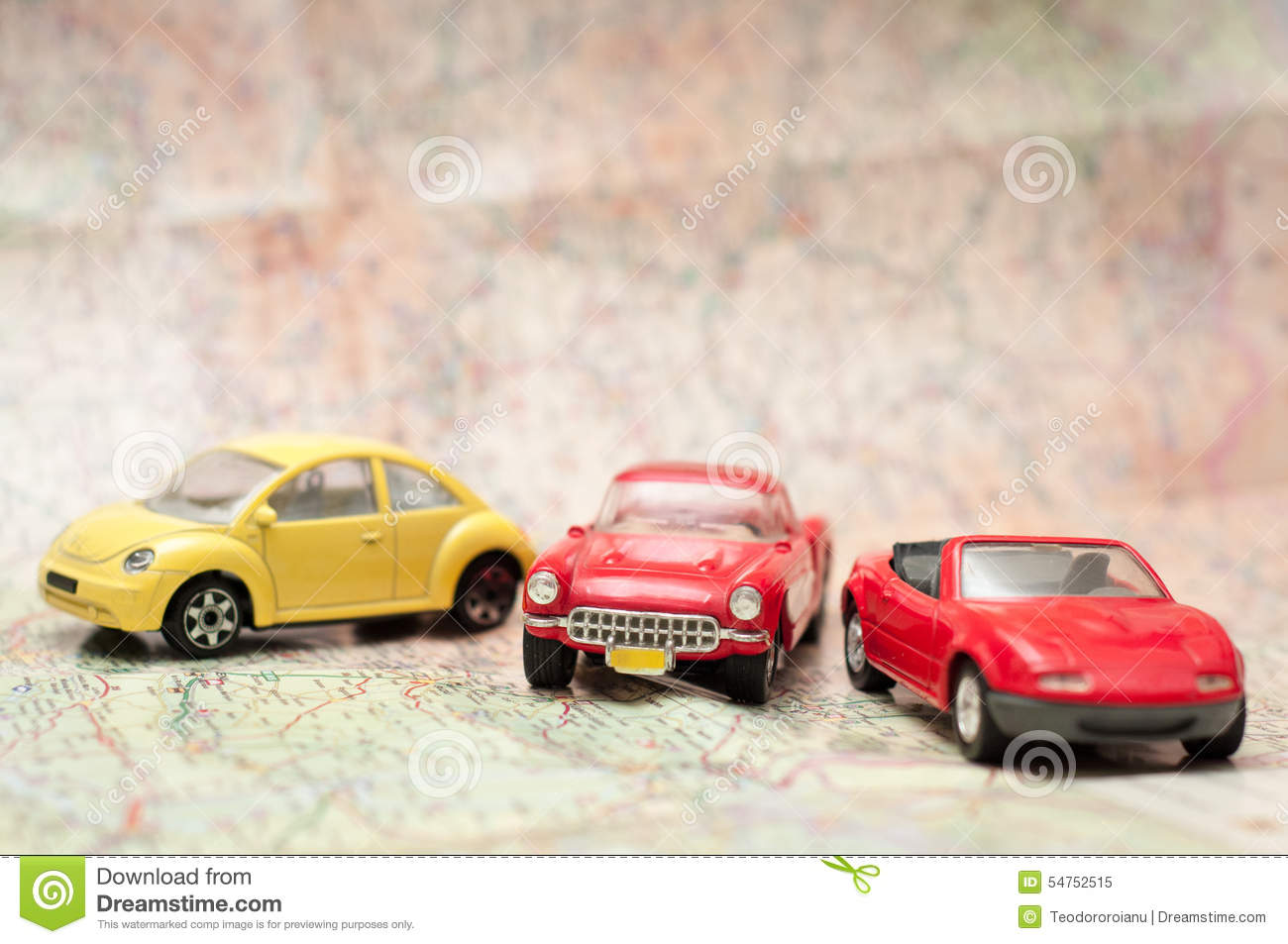 Old school toy cars stock image. Image of leisure, route - 54752515