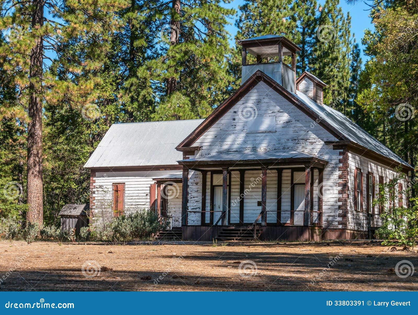 Old schoolhouse in rural California