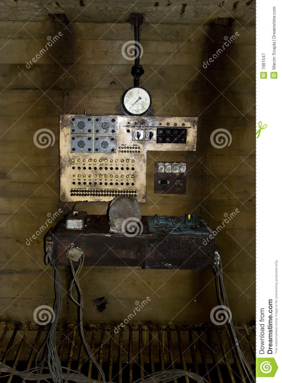 Old Science Fiction Machine Stock Image - Image of fiction, wall ...