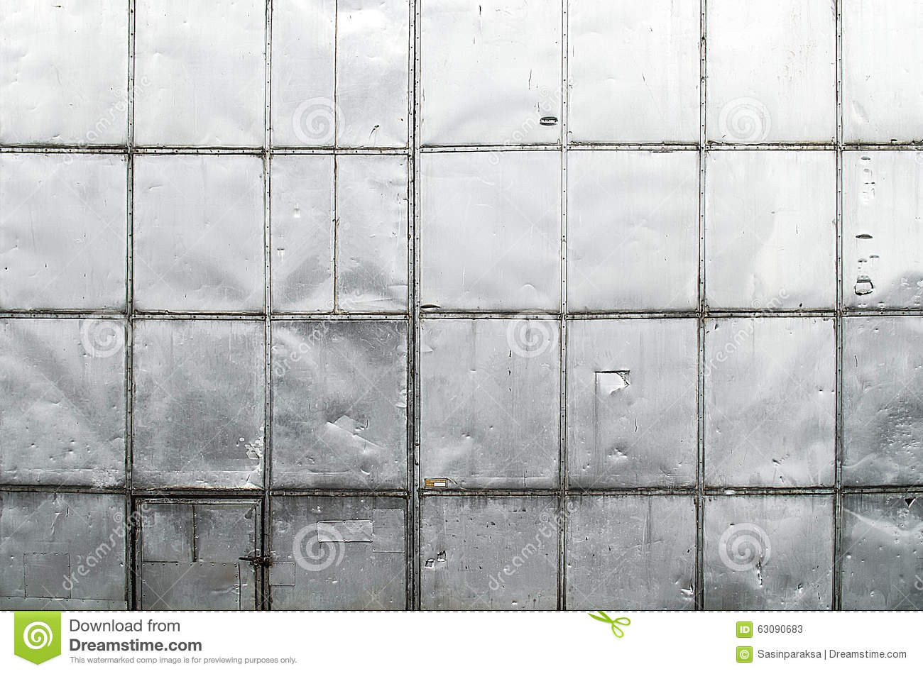 Old Scratch Metal Sheet Wall Texture Stock Image Image