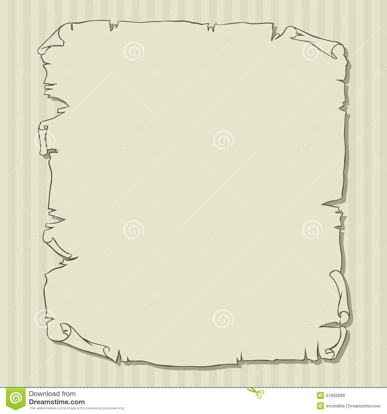 old scroll page background for your designs and stock vector
