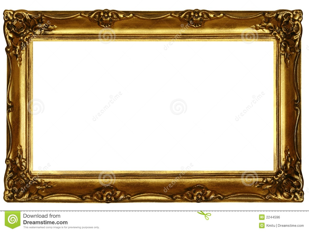 Old sculpted golden frame 2 stock photo image of for How to make vintage frames