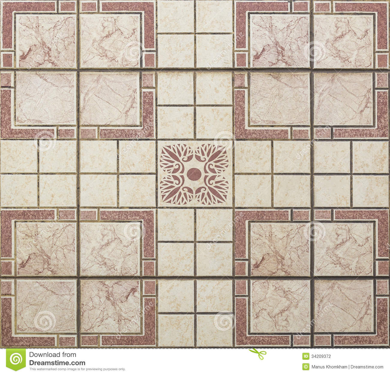 Old Seamless Floor Tiles Stock Photography Image 34209372