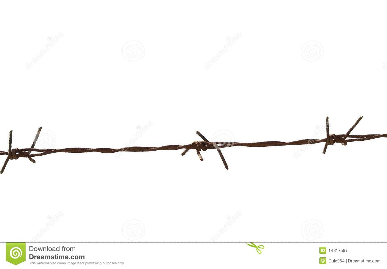 Barbed Wire Security Fence Old Security Barbed Wire Fence
