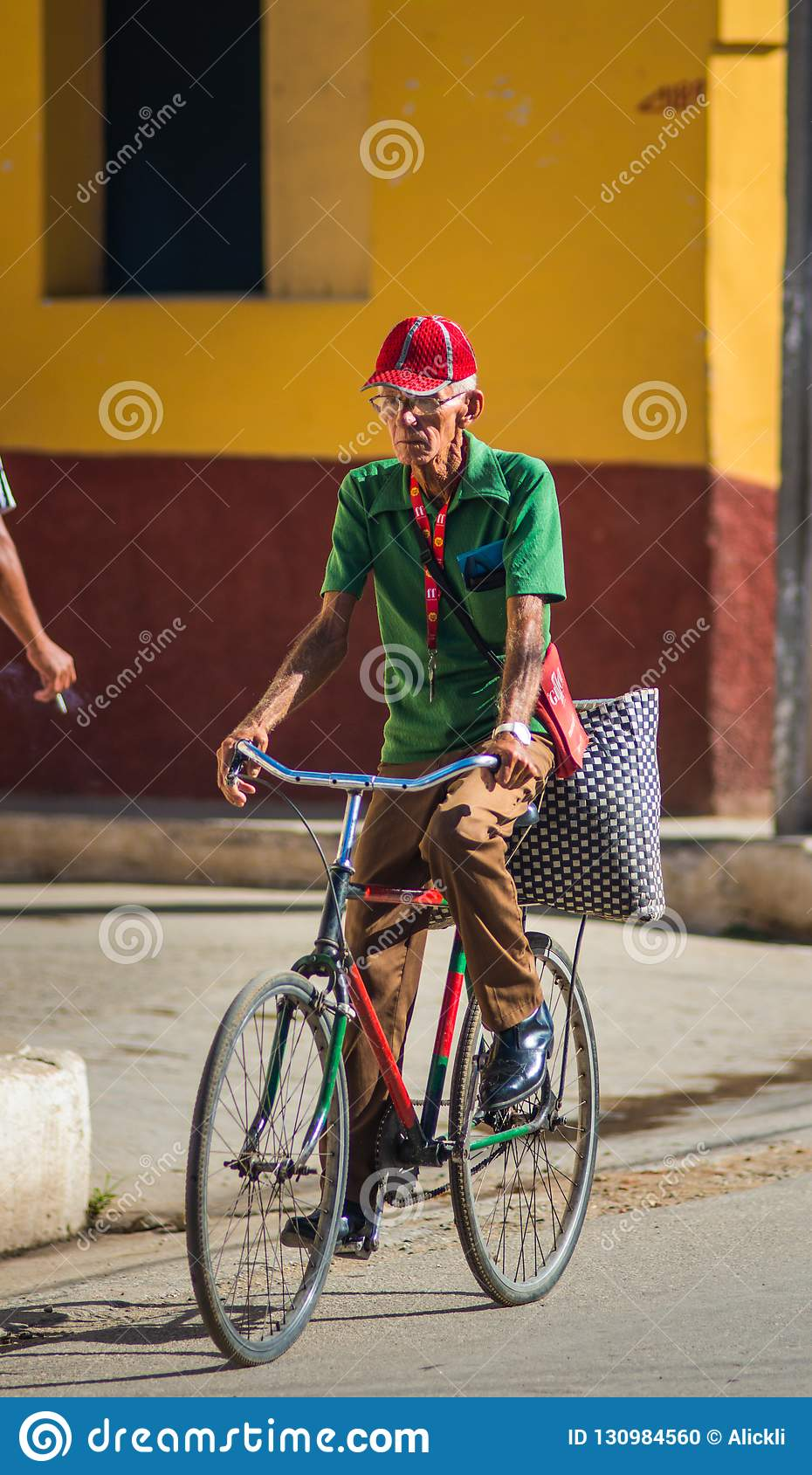 An Old Postman People Man In Street Of Caribbean Communism