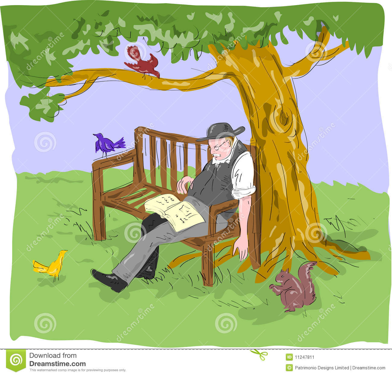Old Senior Man Sleeping Bench Stock Image - Image: 11247811