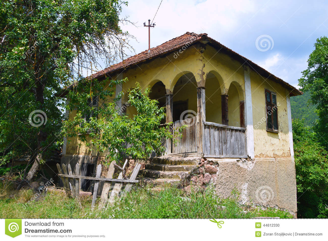 Old Serbian house stock photo  Image of type, made, such - 44612330