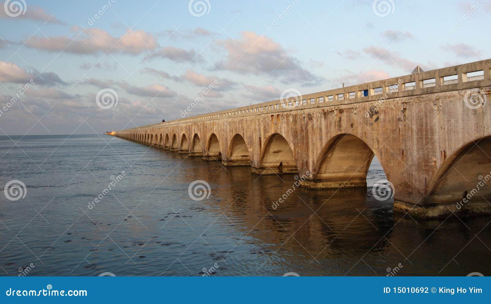 Old seven mile bridge in florida keys stock photography for Florida keys bridge fishing