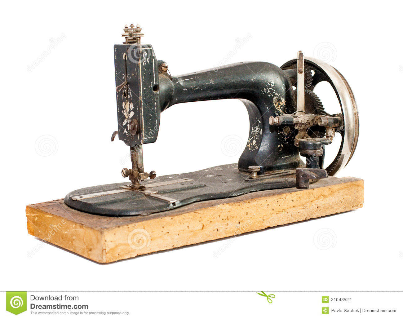 old sewing machine royalty free stock photography image 31043527. Black Bedroom Furniture Sets. Home Design Ideas