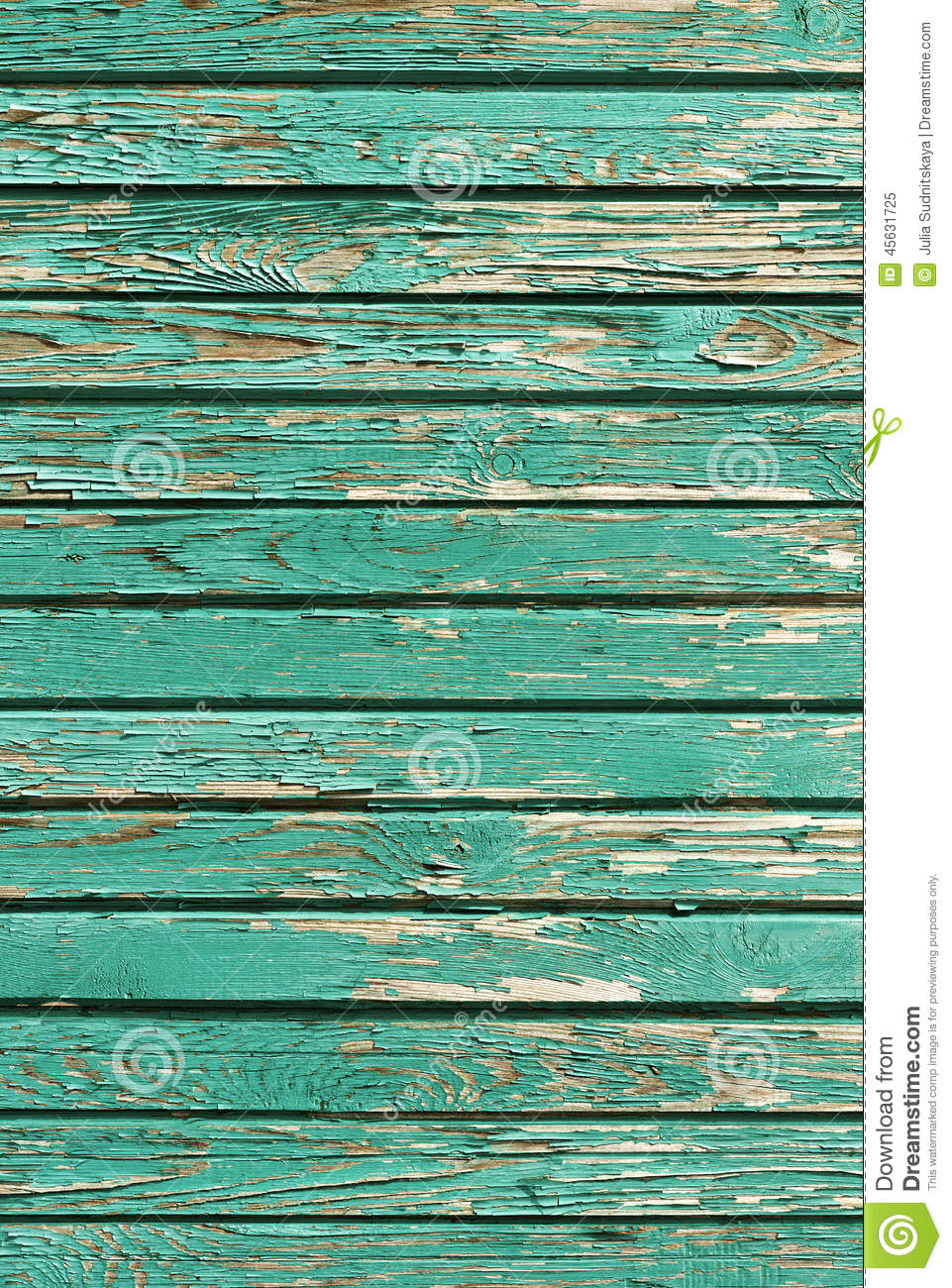 Old Shabby Wooden Planks With Cracked Paint Retro Wood