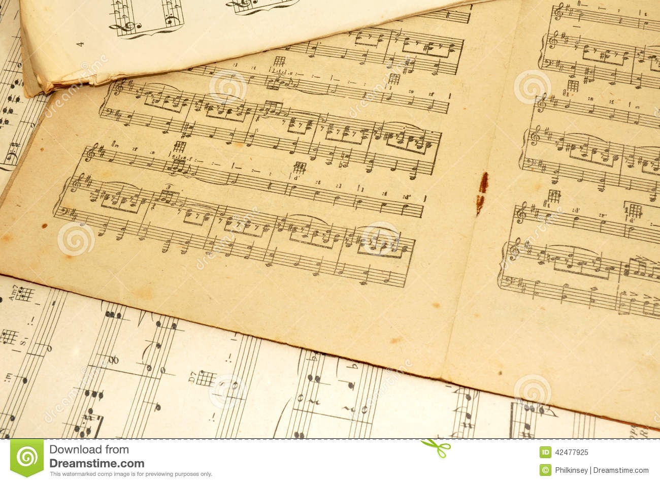 old sheet music stock image image of notation paper 42477925