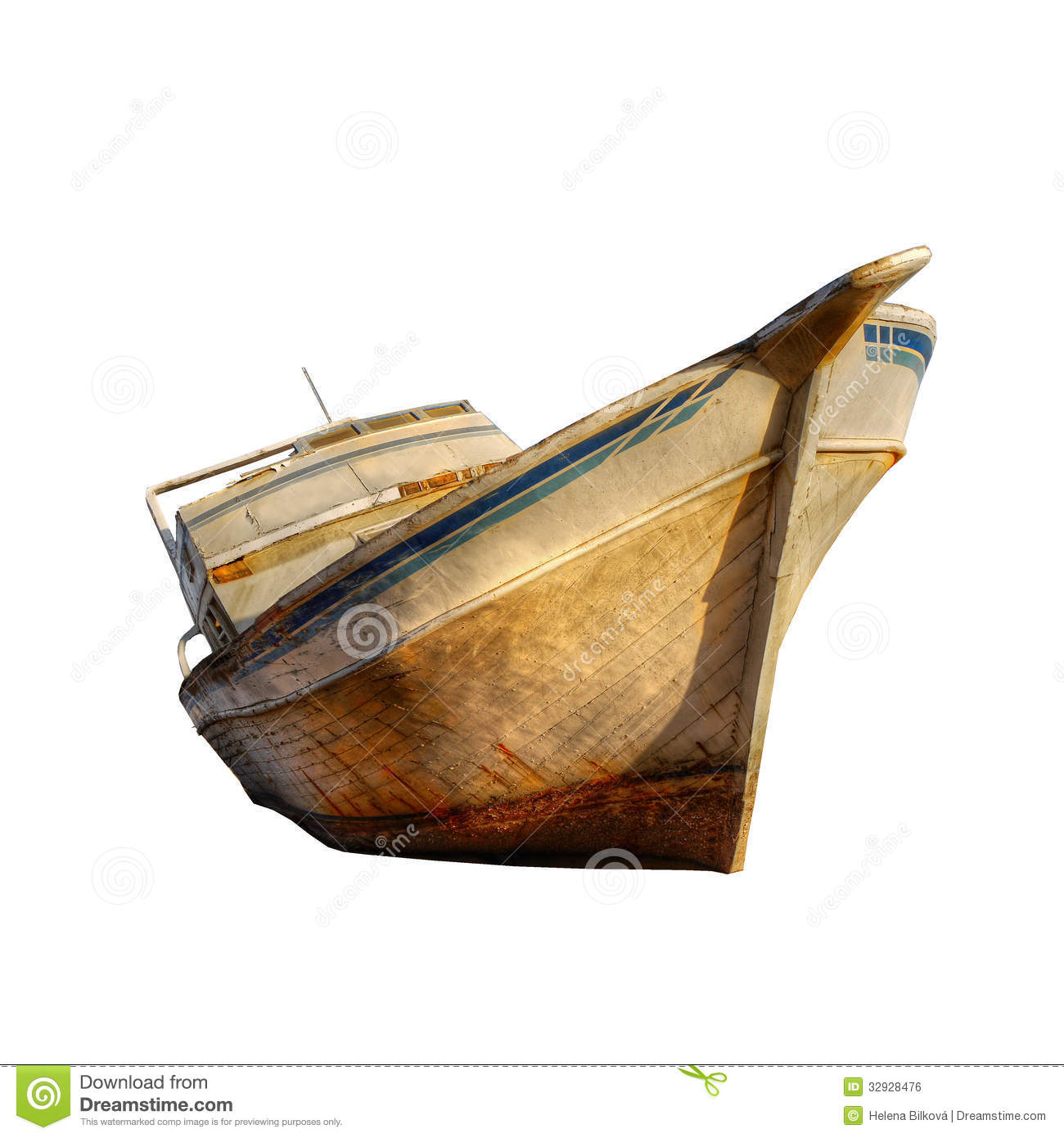 Old Ship Boat Isolated Royalty Free Stock Image - Image: 32928476