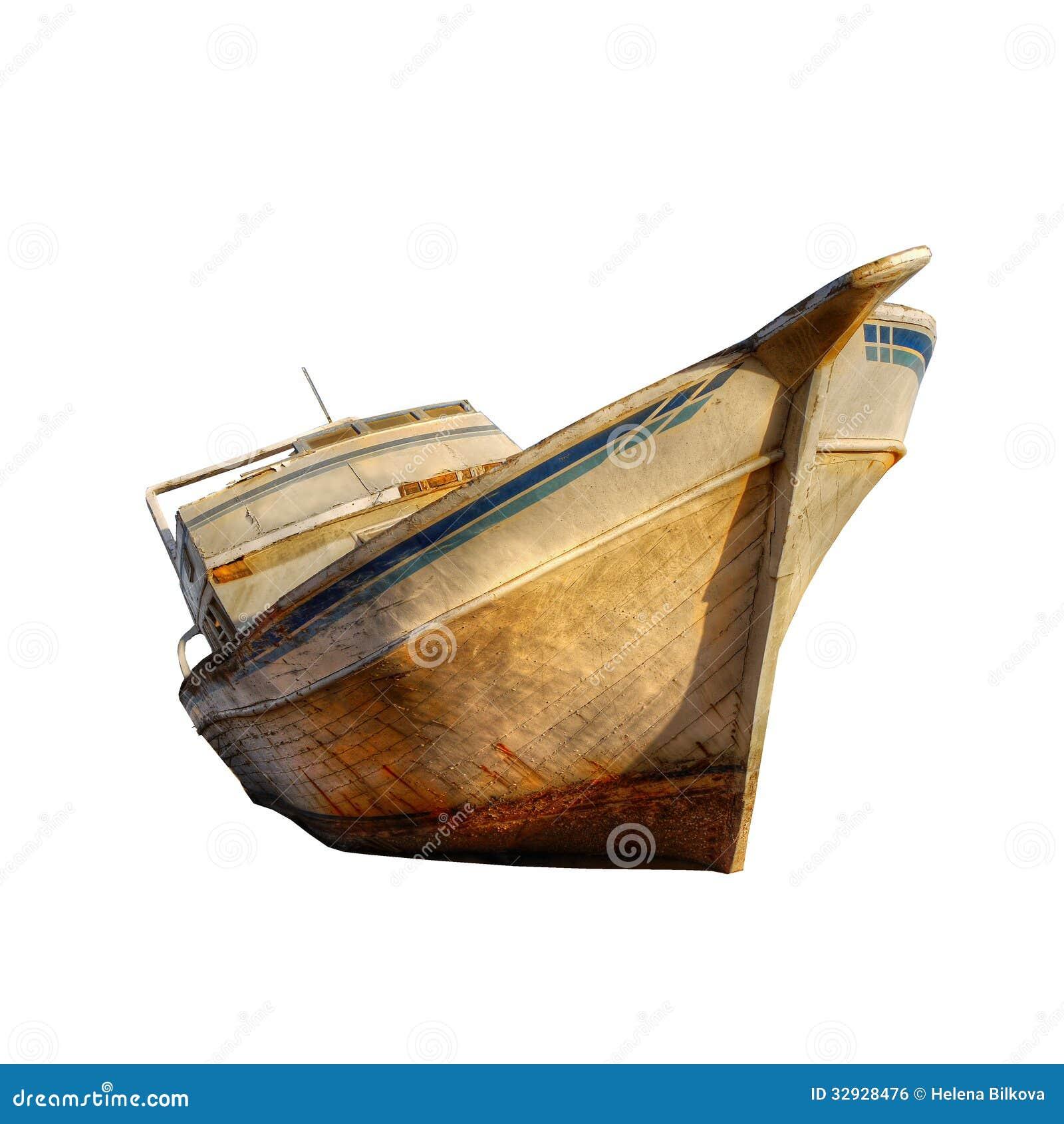 Old Ship Boat Isolated Royalty Free Stock Image - Image: 32928476