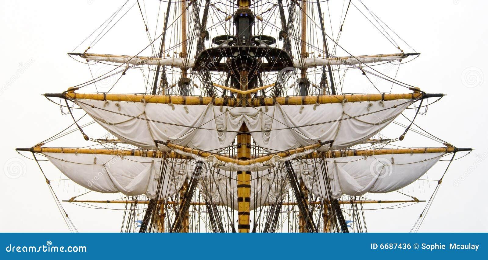 Old Ship Sails Amp Masts Royalty Free Stock Image Image