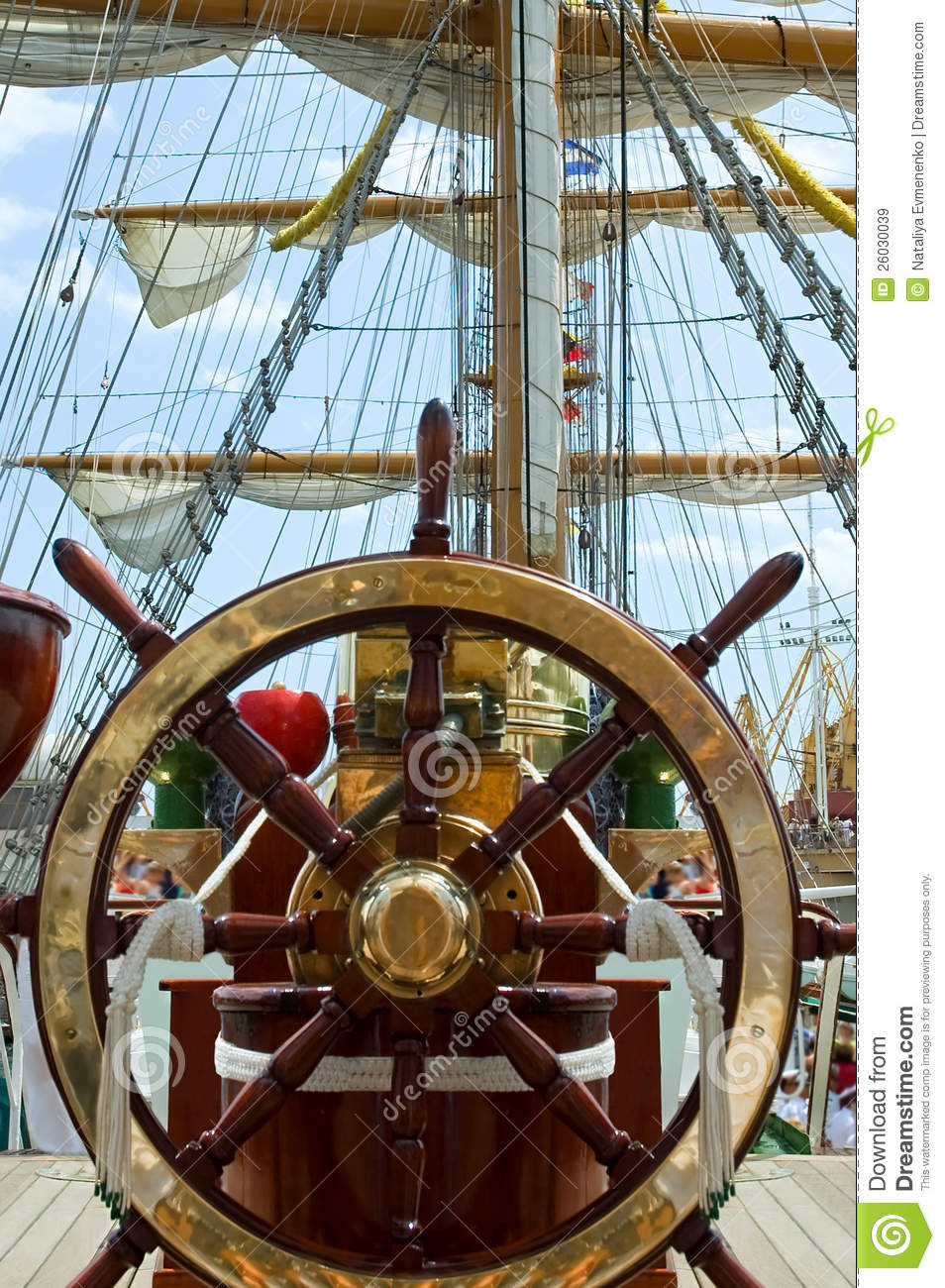 Old Ship Wheel Royalty Free Stock Images Image 26030039