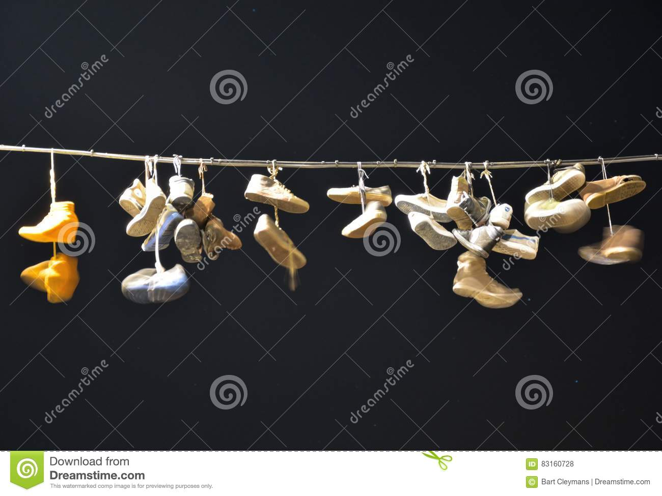 Old Shoes Hanging Wire Stock Photos - 110 Images
