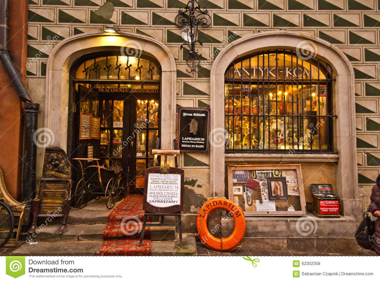 Old shop in Warsaw