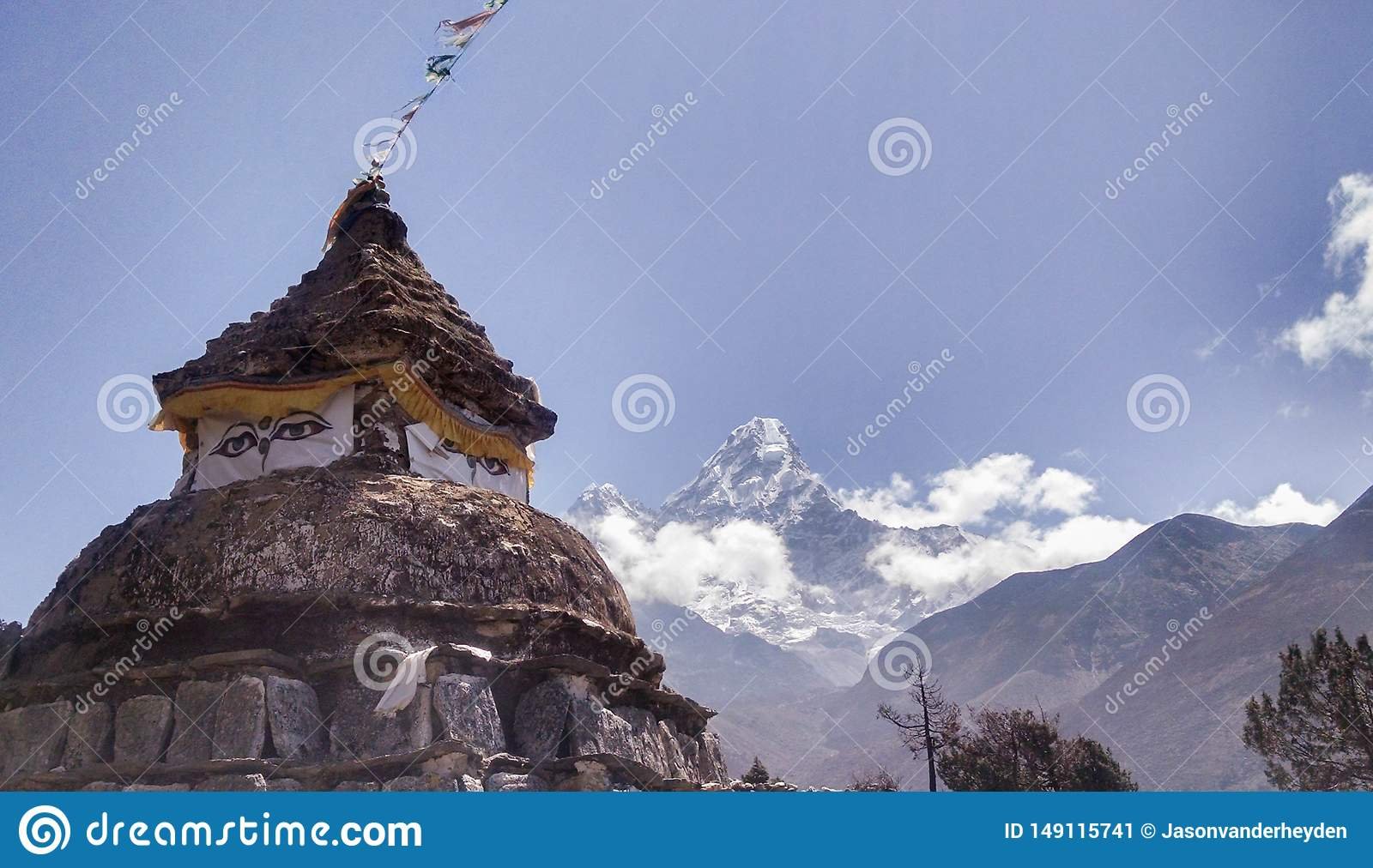 Old Shrine in Himalayas Nepal