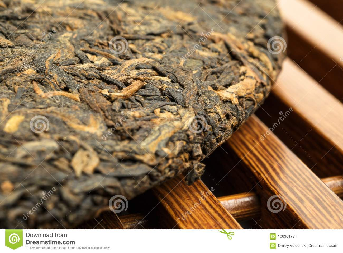 Old Shu Puerh Chinese Fermented Black Tea Selective Focus Stock Use In Macro Photography For Dummies Photo