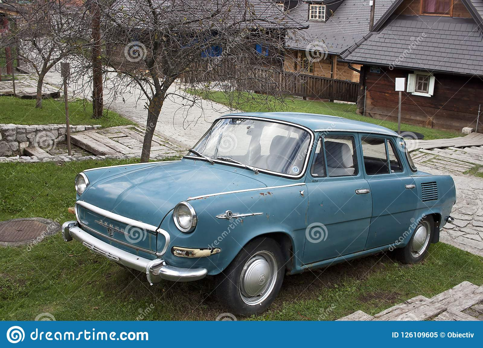 Old Skoda Car Editorial Image Image Of Serbia Drvengrad 126109605