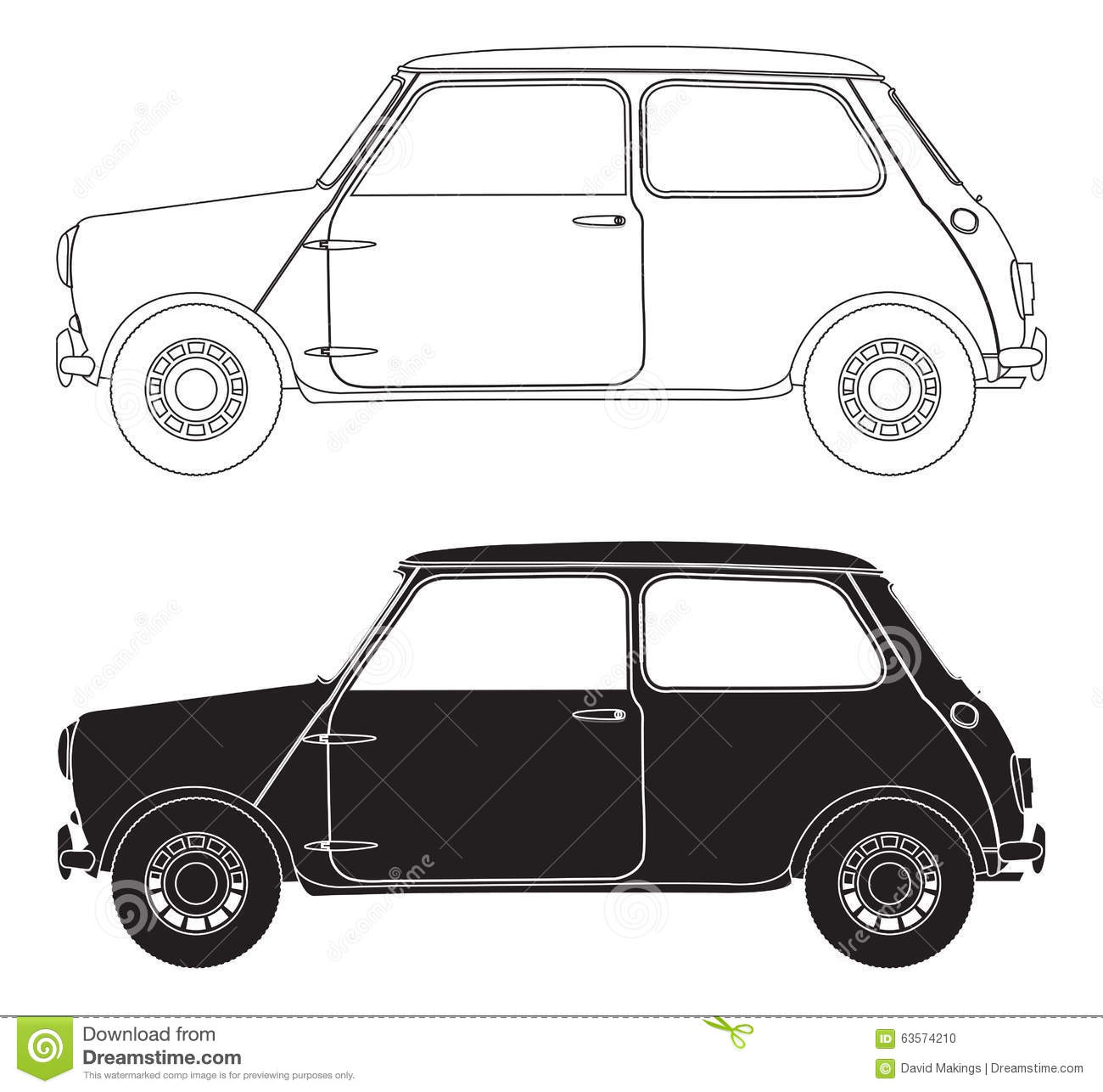 old small car outlines stock illustration image 63574210