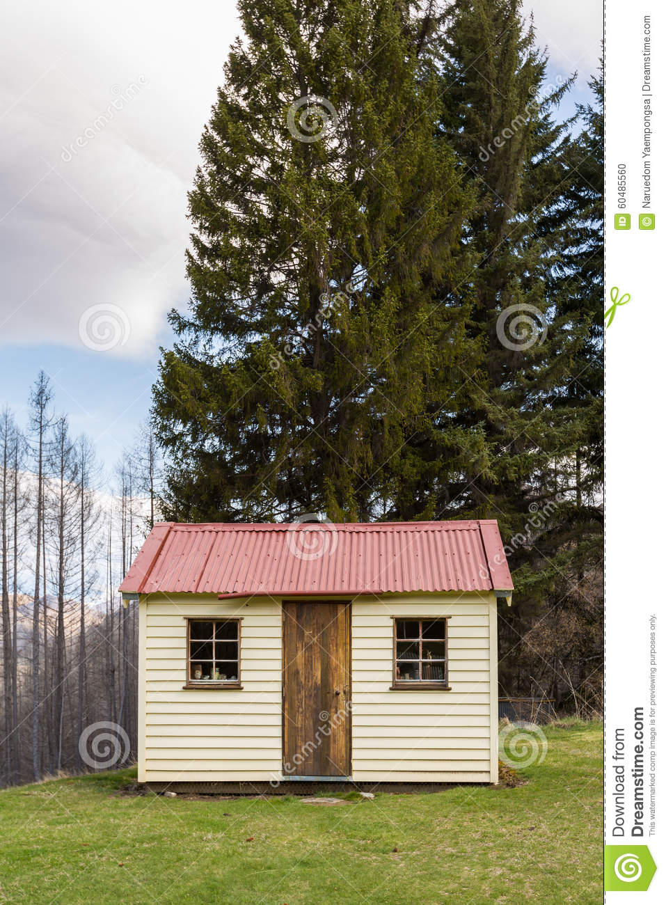old small cottage in the mountain stock photo image 60485560