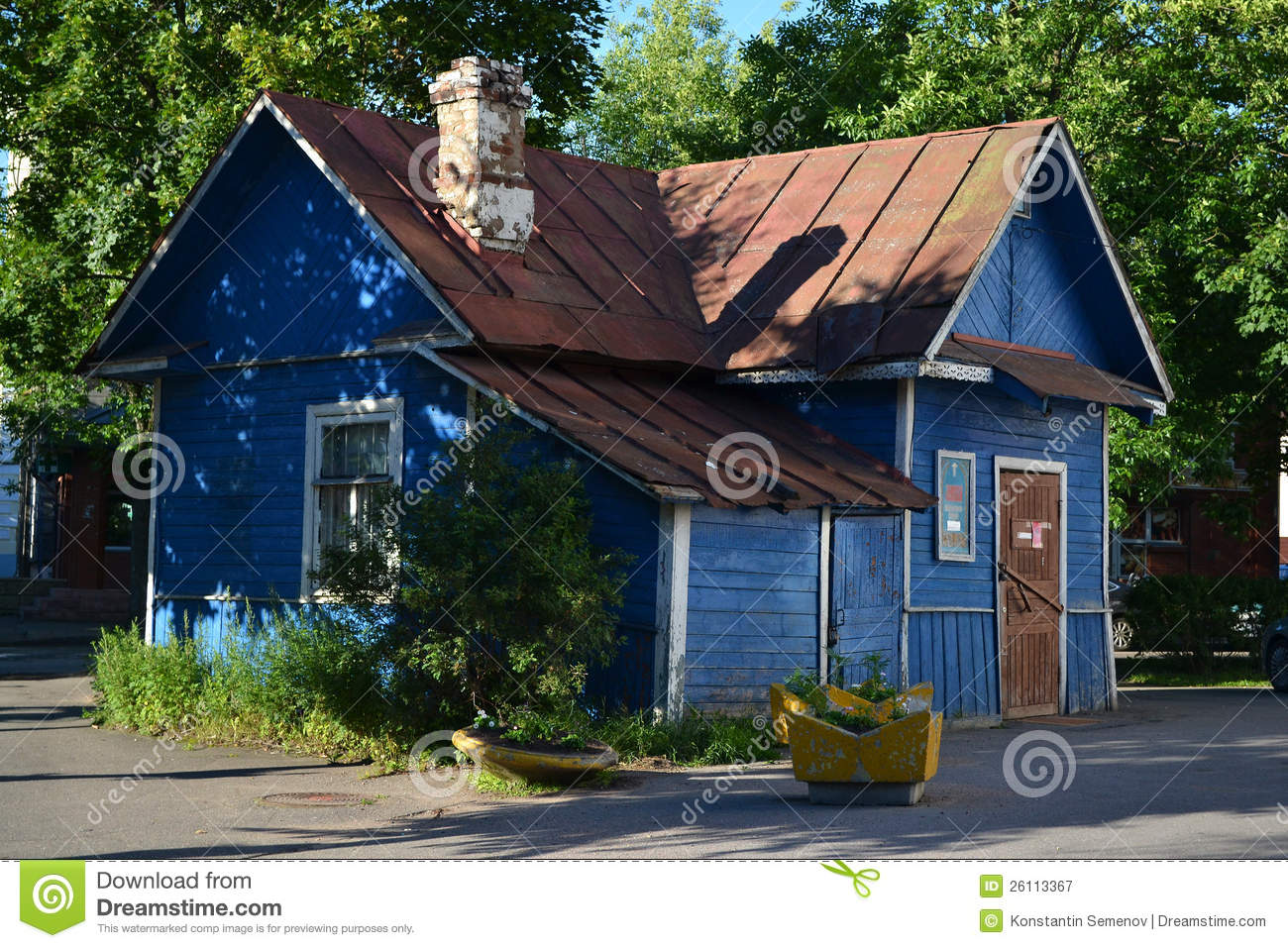 Old small country wooden house stock image image of for Small wooden house