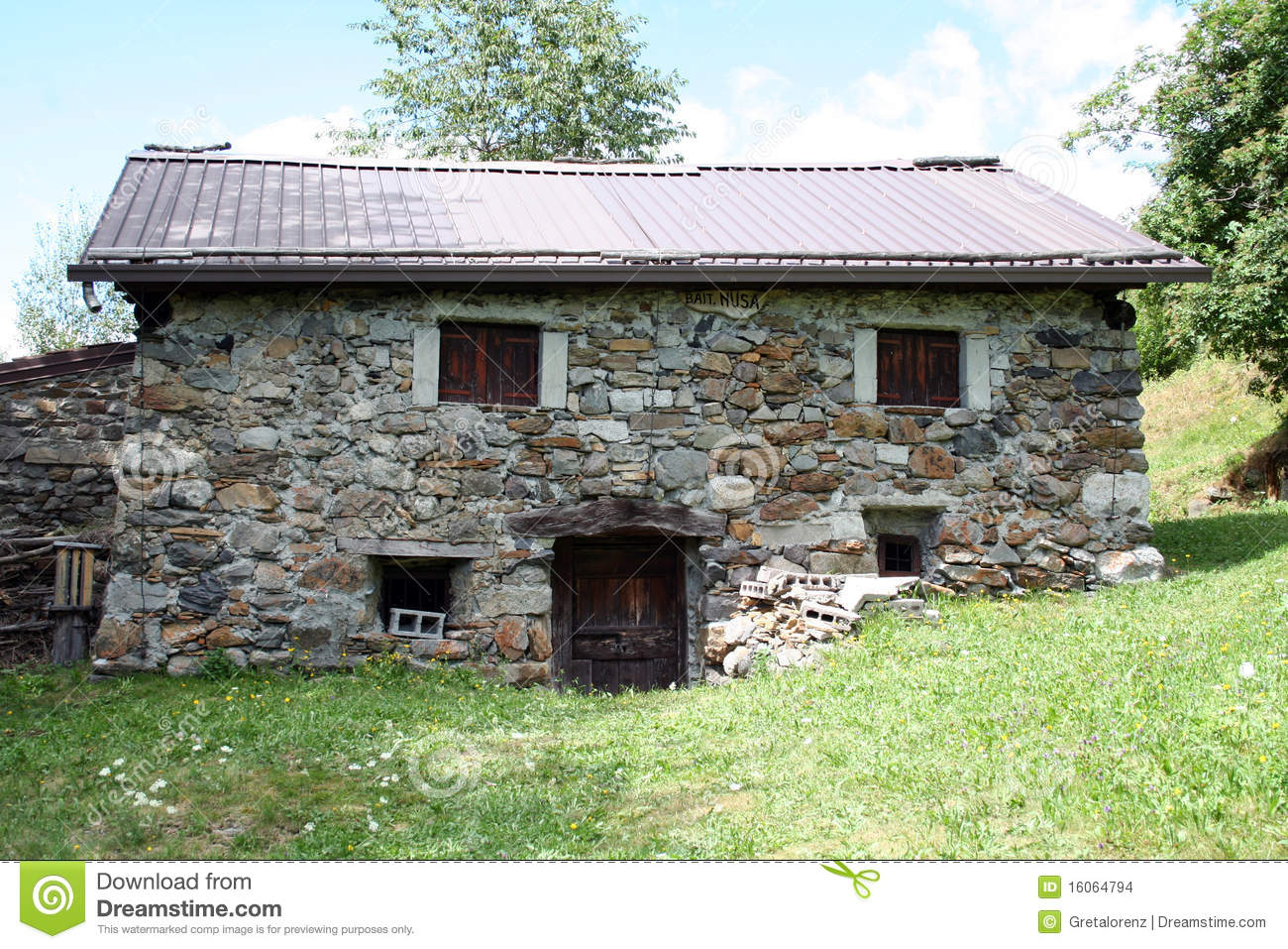 Old Small Mountain House In Stone Stock Images - Image ...