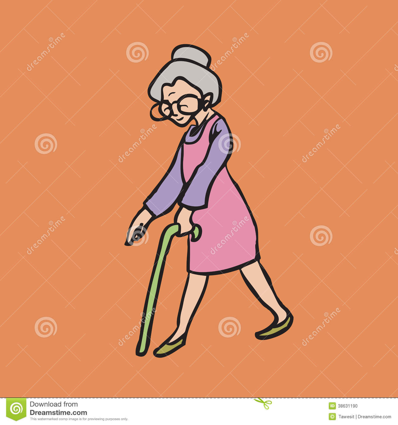Old Smiley Woman With ...