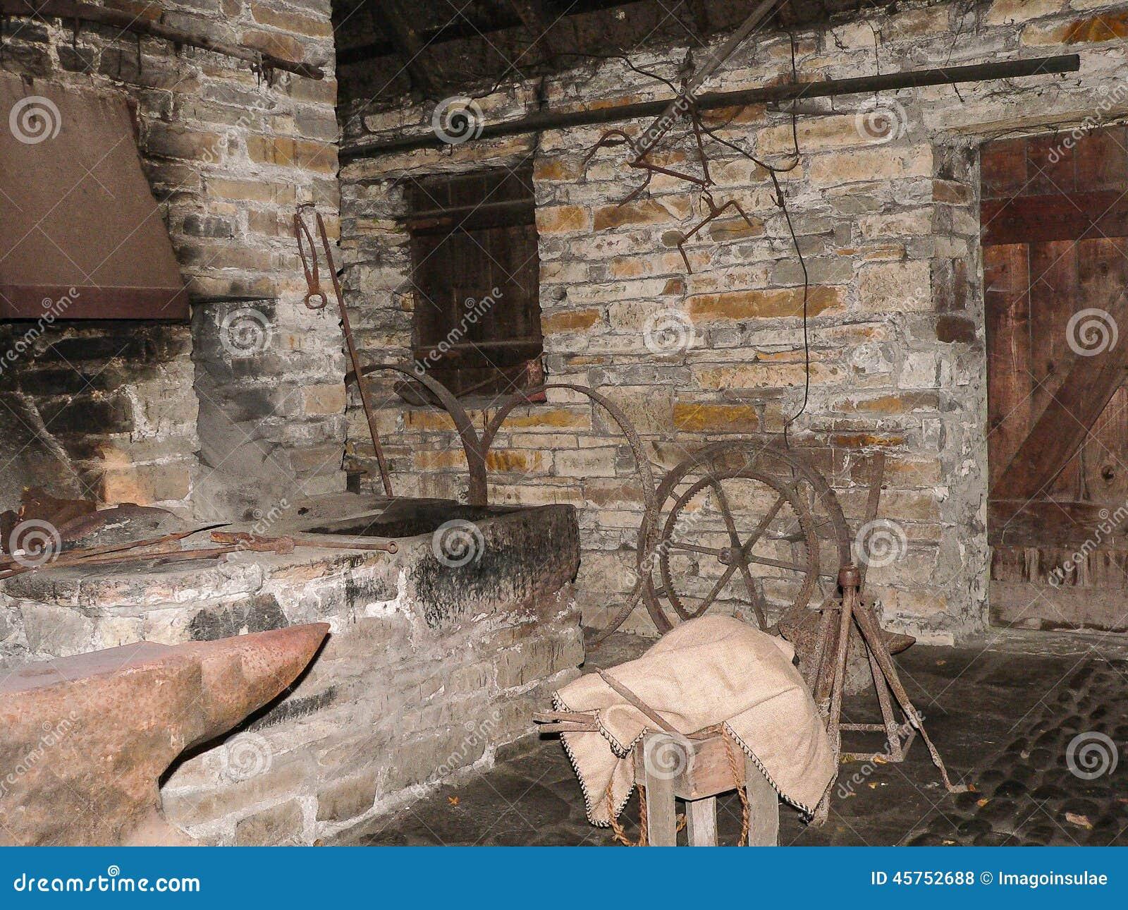 Old Smithy Stock Photo Image 45752688