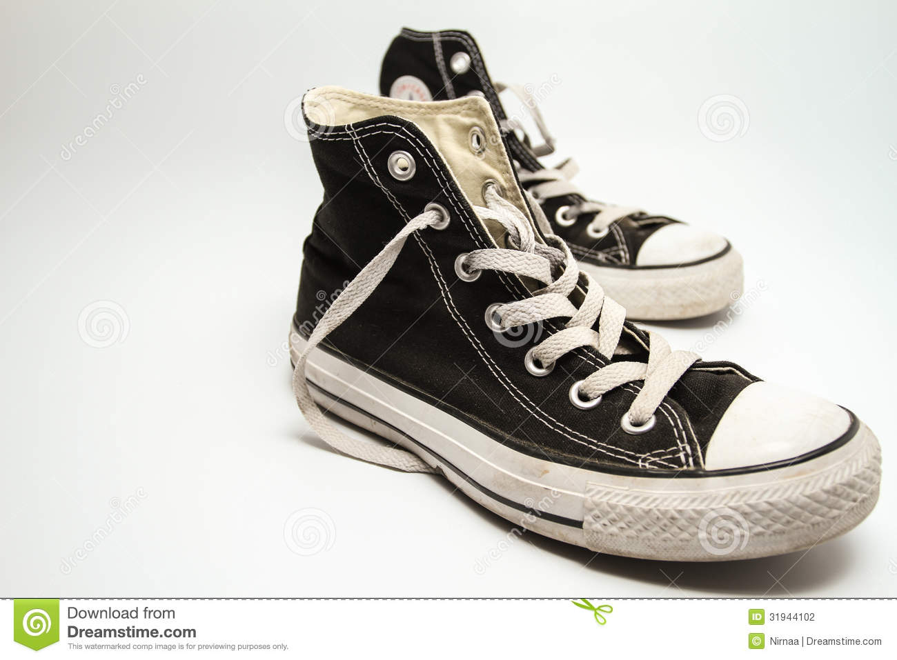 Old Sneakers Stock Photography
