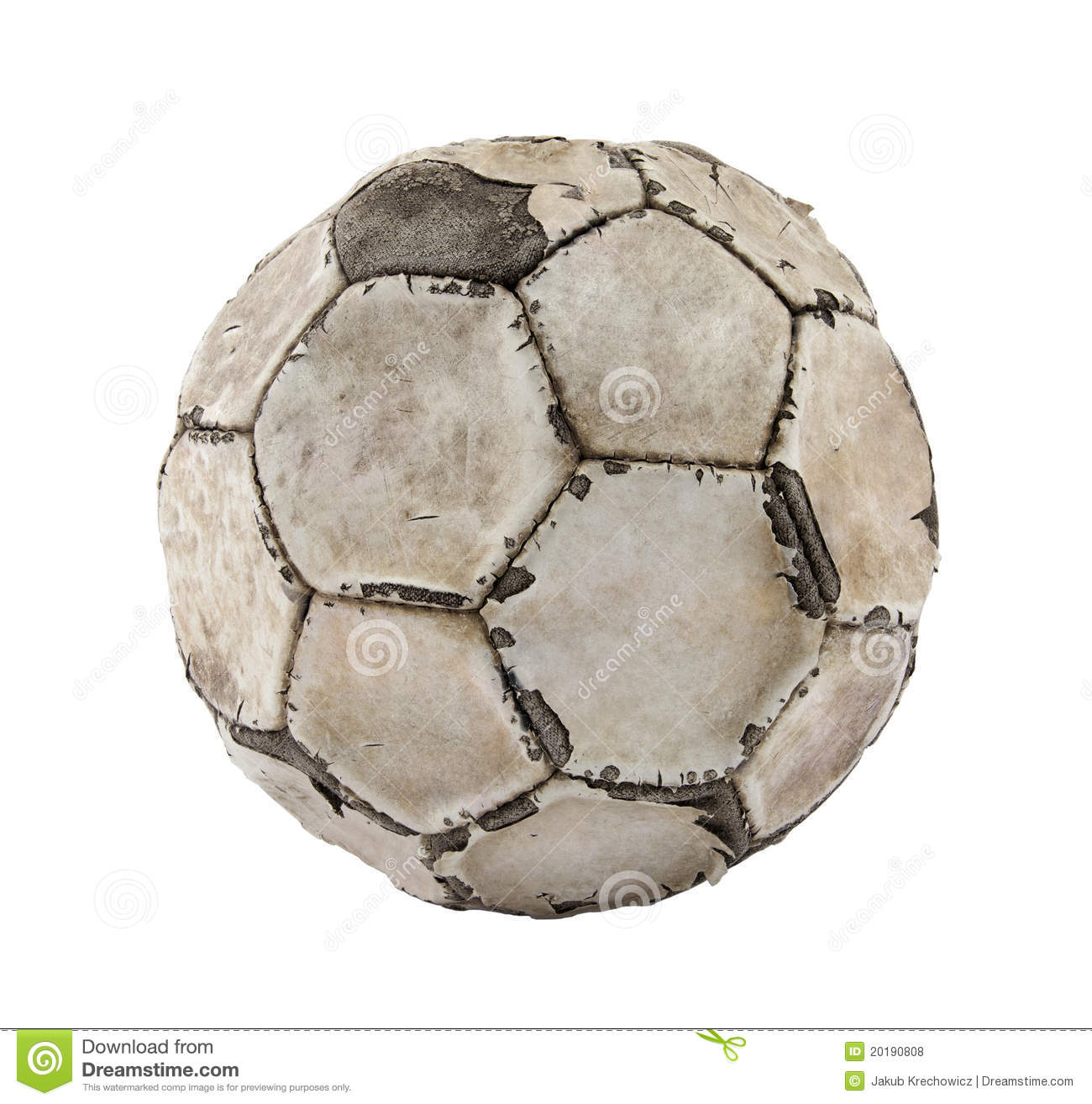 Old soccer ball stock photo. Image of ball, sphere, rough ...