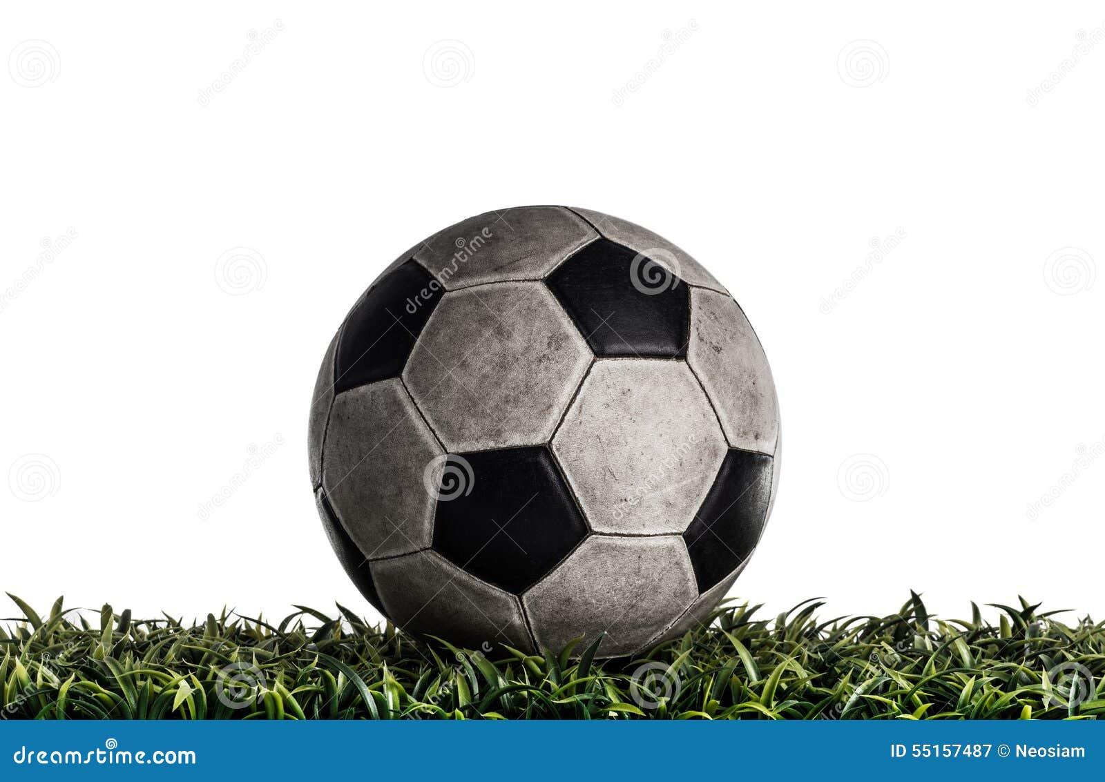 Old Soccer ball in the studio