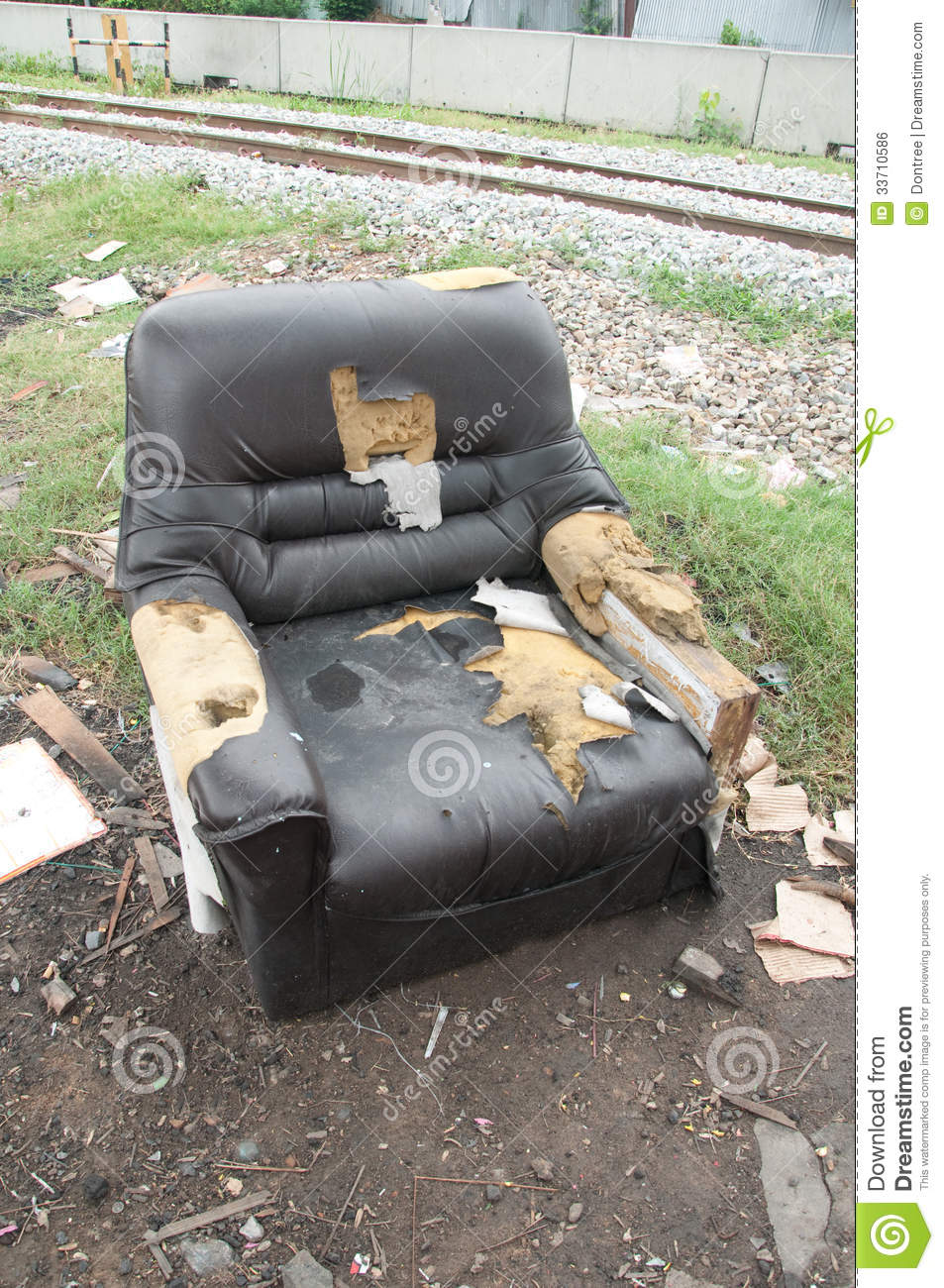Old Sofa In A Dirty Royalty Free Stock Image Image 33710586