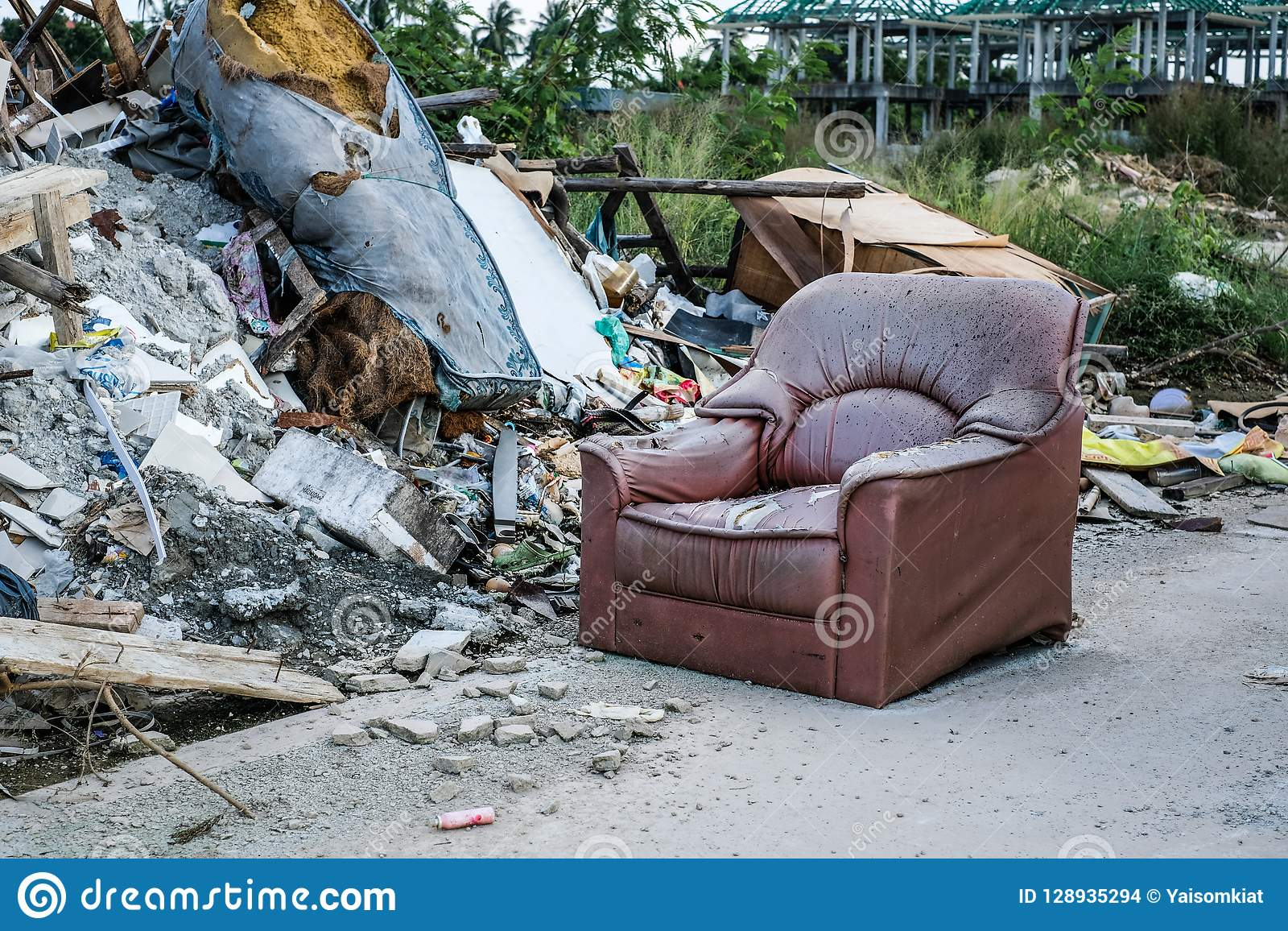 Sensational Old Sofa Seats Were Dumped In The Garbage Dump Stock Photo Andrewgaddart Wooden Chair Designs For Living Room Andrewgaddartcom