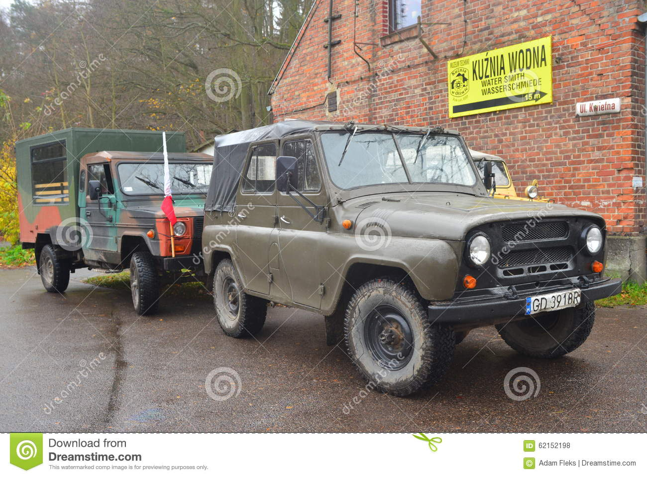 Old Soviet Army Vehicle Uaz Cars On A Parade Editorial Stock