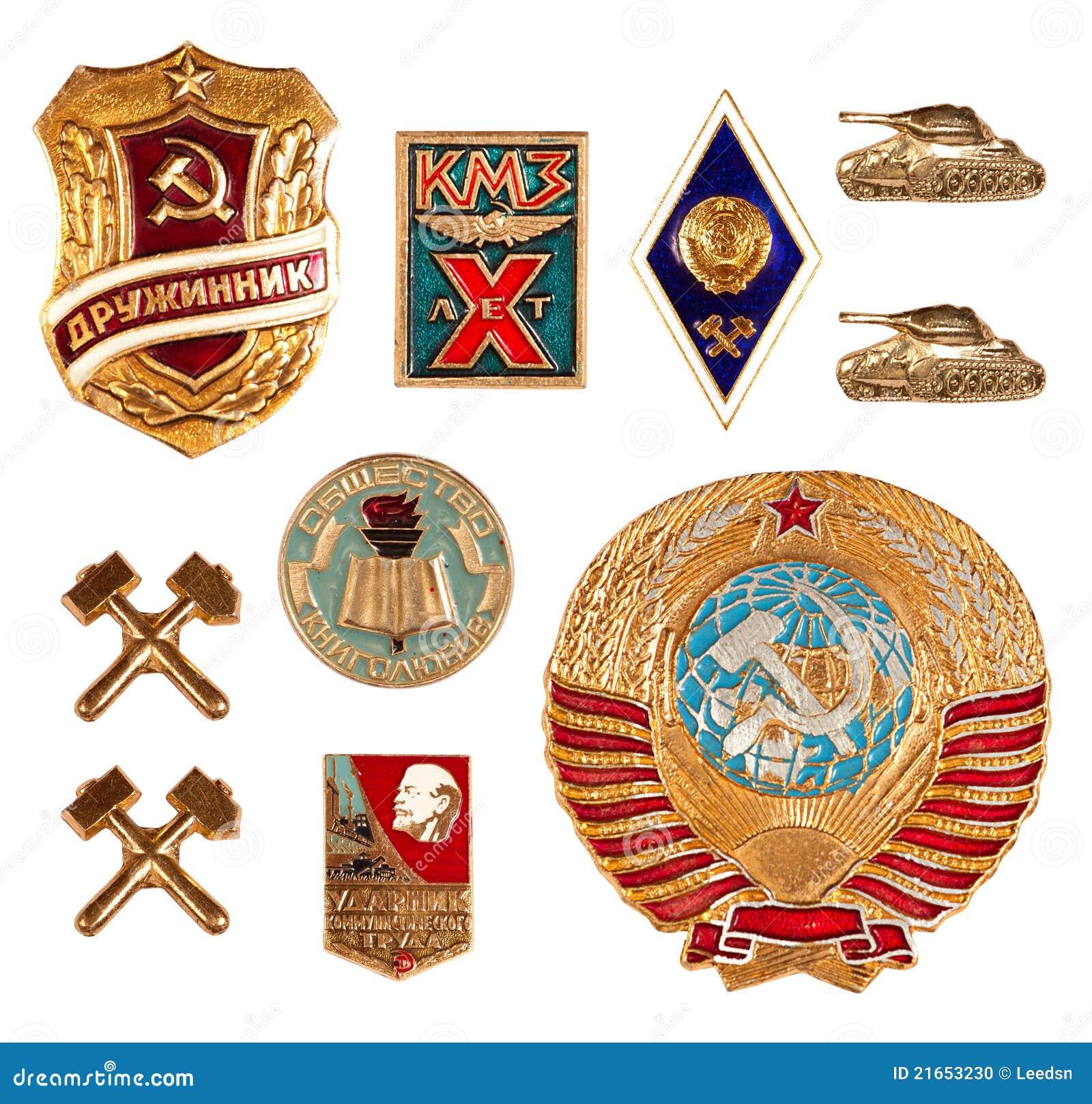 Old soviet badges
