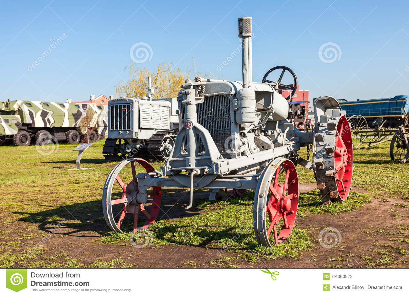 Togliatti Russia  city photos : TOGLIATTI, RUSSIA MAY 2, 2013: Old Soviet tractor Universal 2 for ...