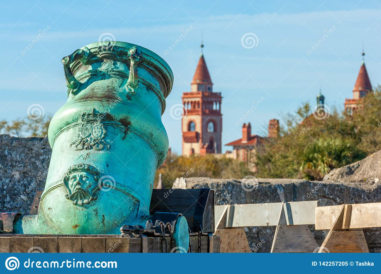 San Marcos College >> Old Spanish Bronze Alloy Mortar Stock Image Image Of