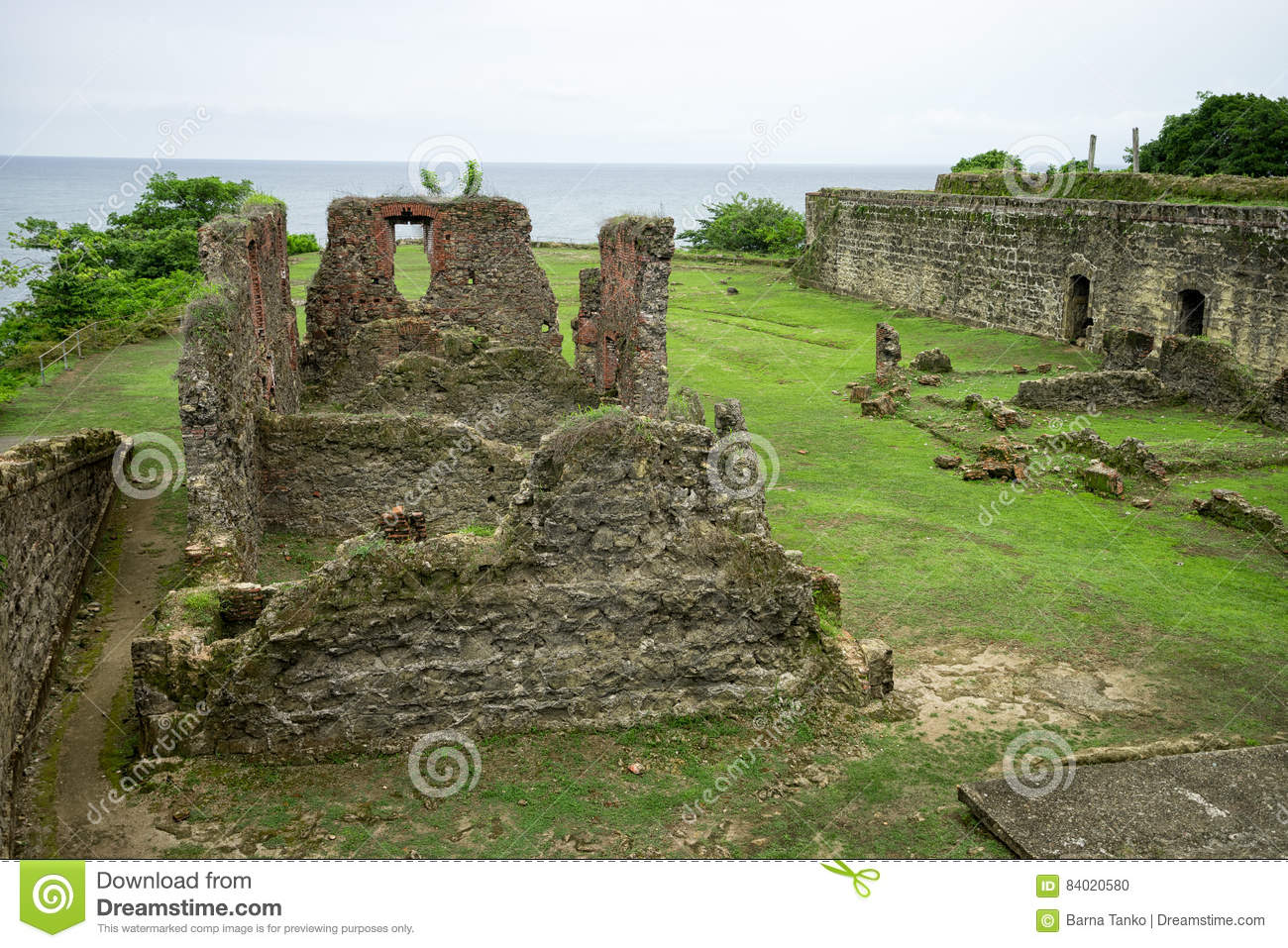 Old Spanish fort in Panama