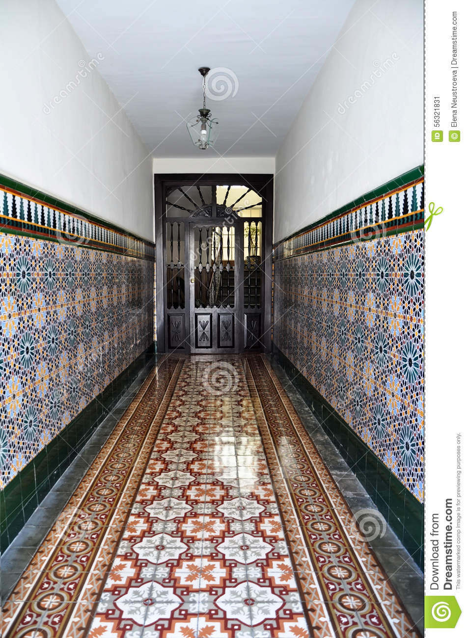 Old Spanish Wall Tile Pattern Stock Image Image Of Spain