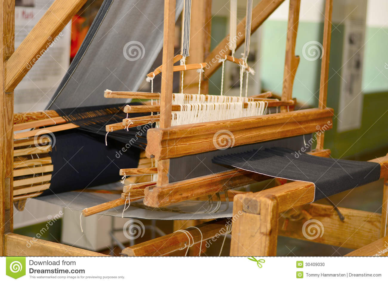 Old Spinning machines in wood