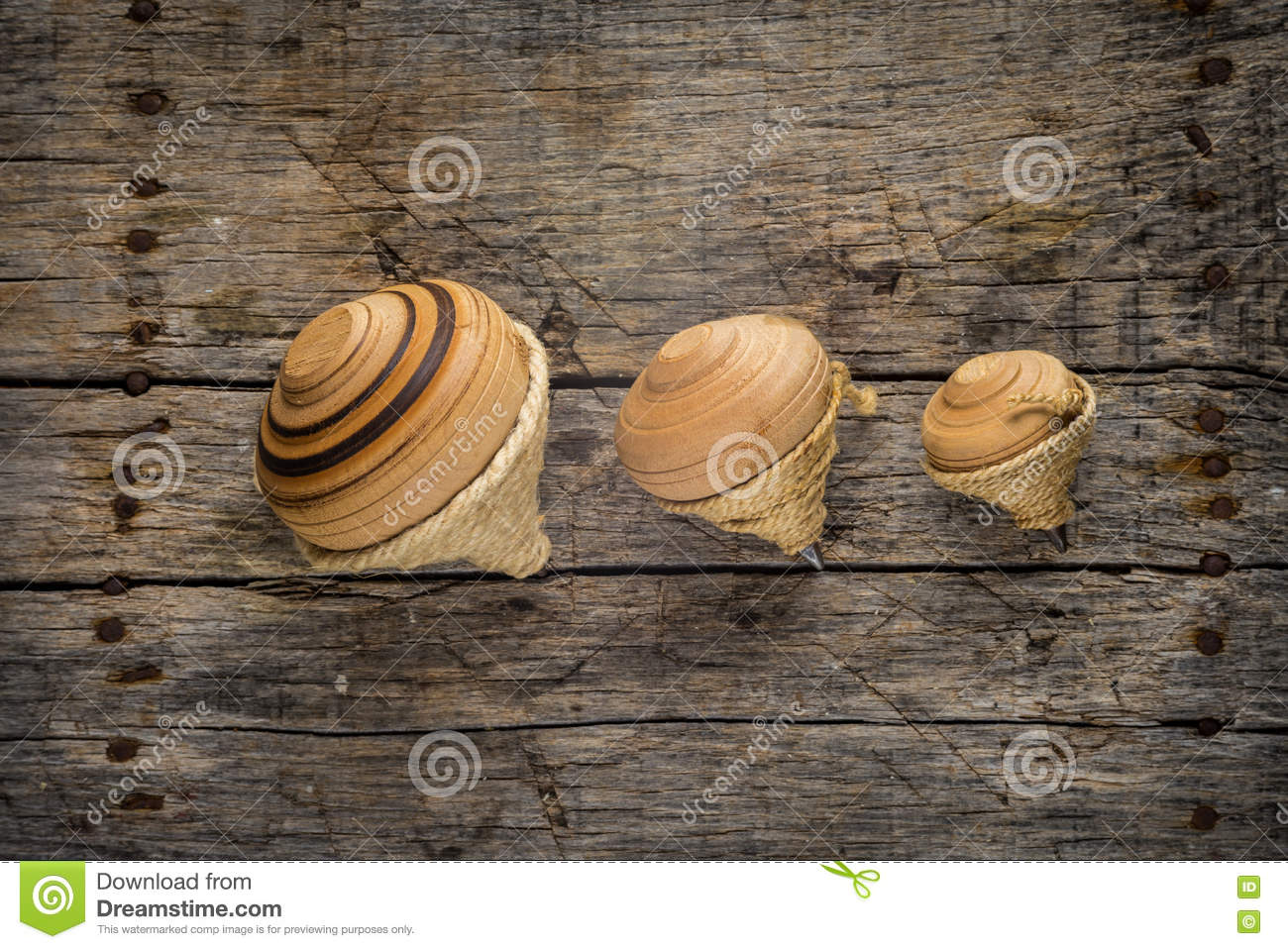 Old spinning tops stock photo  Image of wooden, rope - 79175110