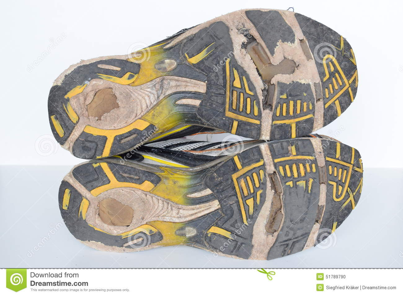 Old Sport Shoes Old Jogging Shoes Old Sneakers Worn Out