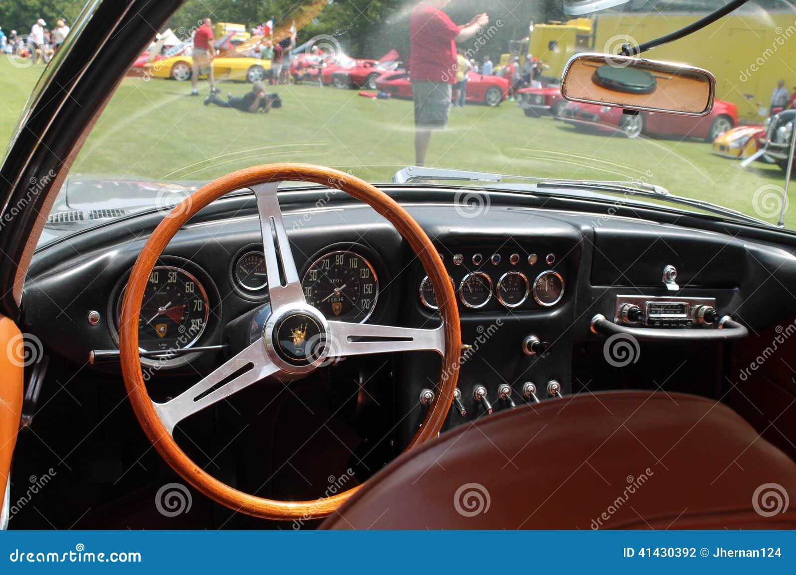 old sports car cockpit editorial photography image 41430392. Black Bedroom Furniture Sets. Home Design Ideas