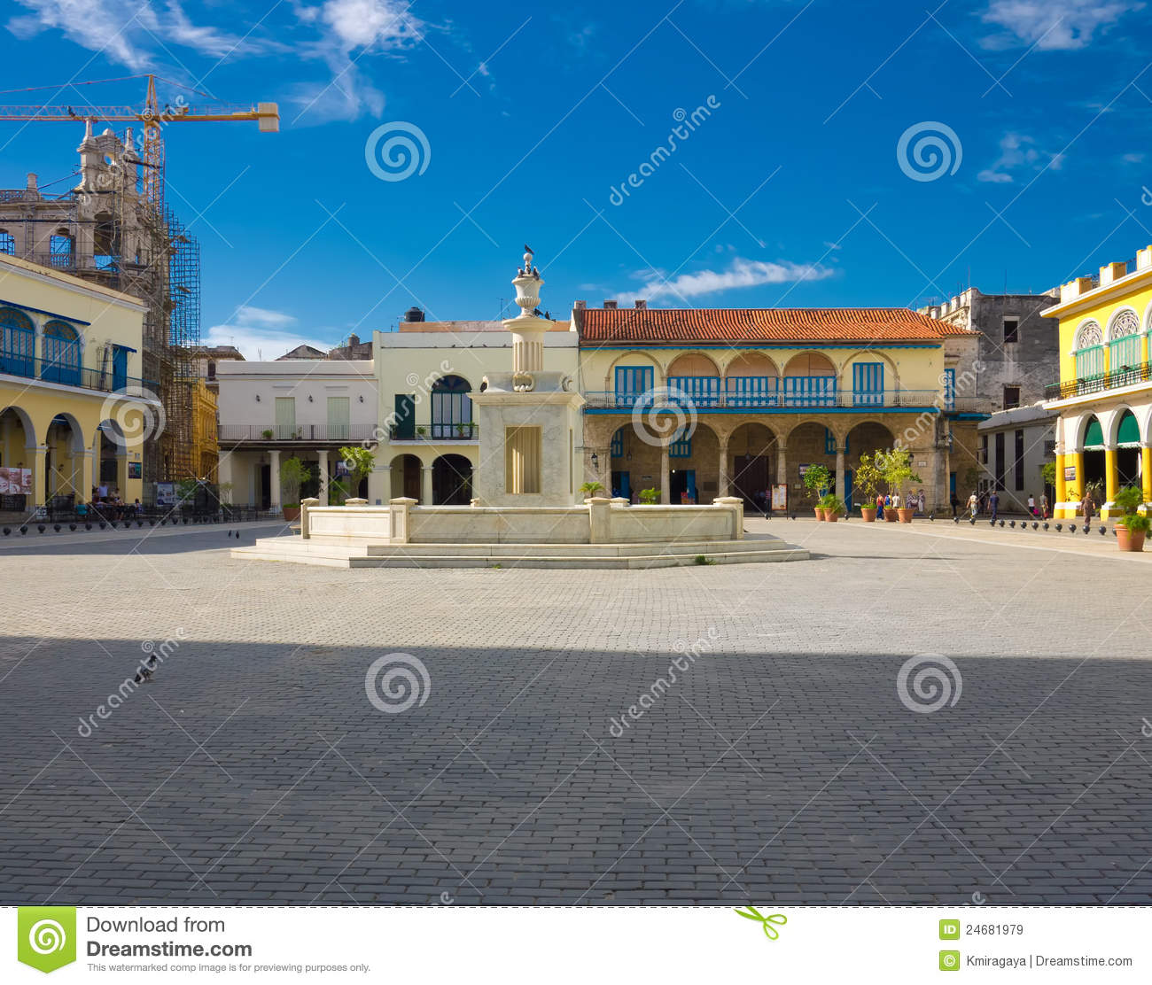 The Old Square In Havana Cuba Stock Image Image 24681979