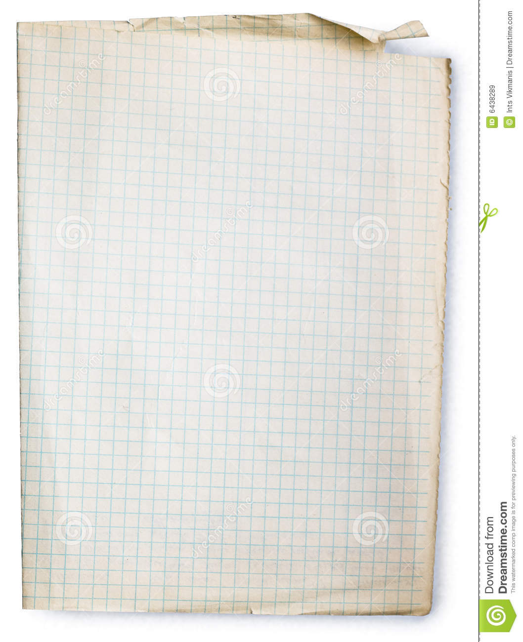 Download Old Square lined paper stock image. Image of copy, note - 6438289