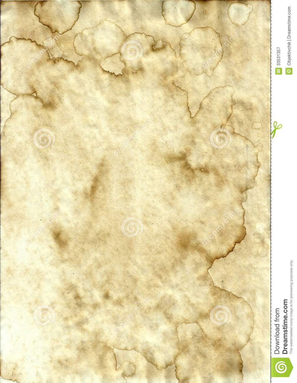 Old Stained Paper Royalty Free Stock Photography Image 33531357