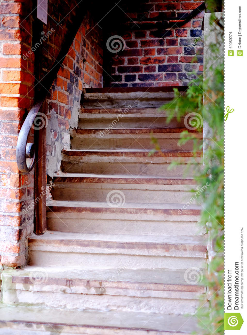 Old Staircase Nature, Spiritual Pathway Concept Door